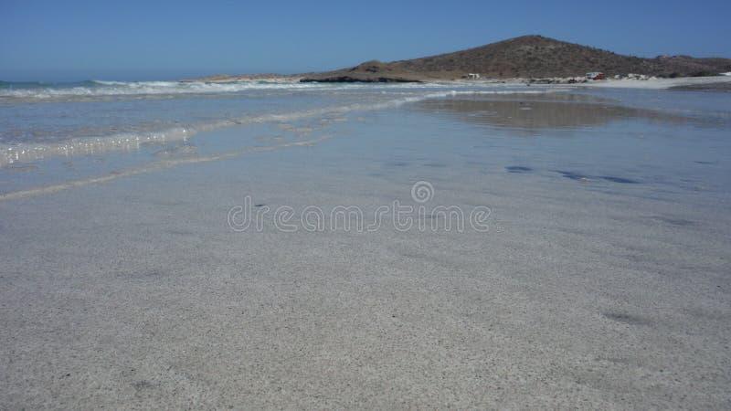 Spiaggia la Bassa California Messico del giocatore di Tecolote immagine stock libera da diritti