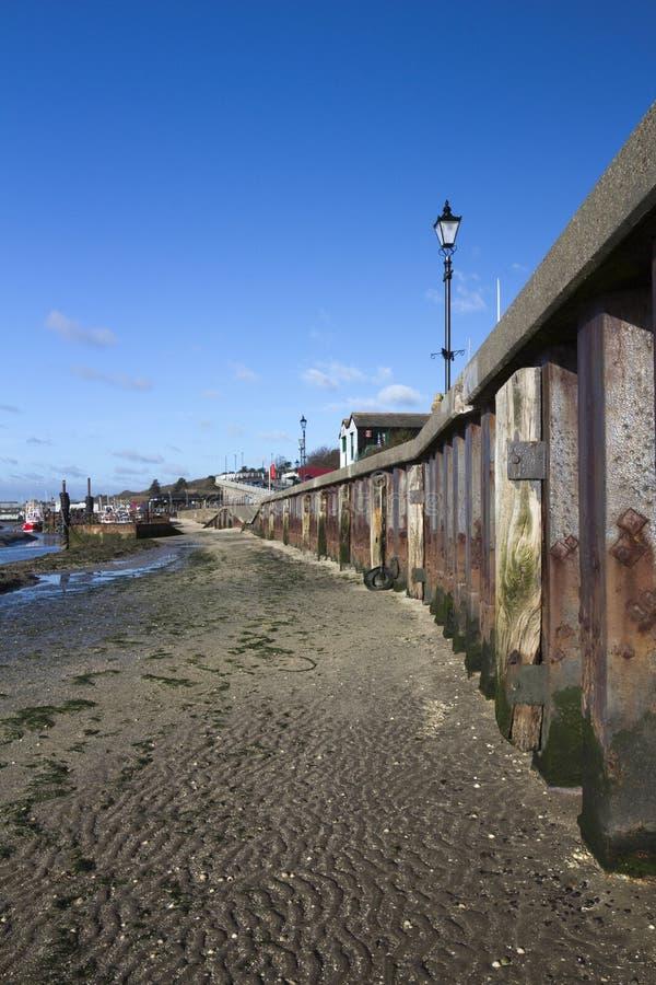 Spiaggia a Leigh anziano, Essex, Inghilterra immagine stock