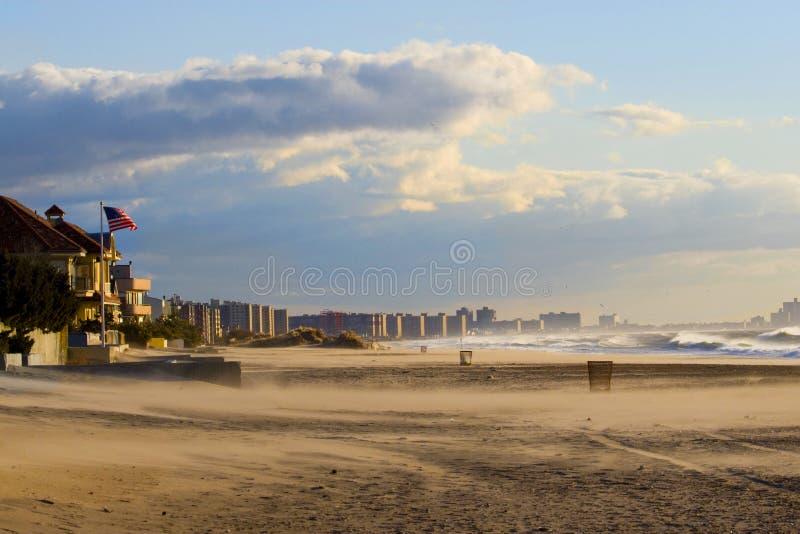Spiaggia lontana di Rockaway immagini stock