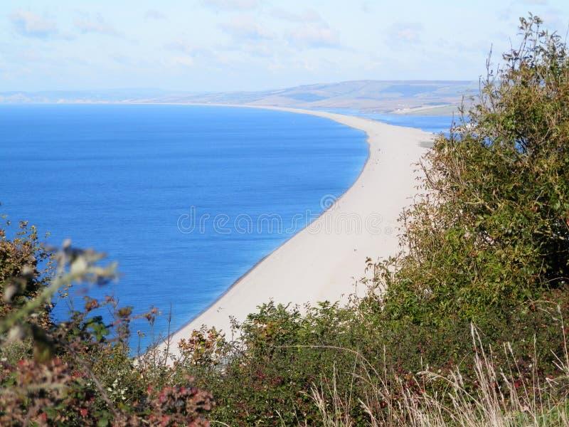Spiaggia lunga dell'assicella fotografia stock libera da diritti
