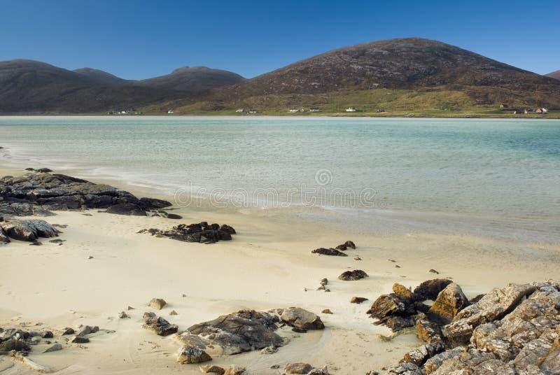 Spiaggia a Luskentyre, isola di Harris, Hebrides esterno, Scozia fotografia stock libera da diritti