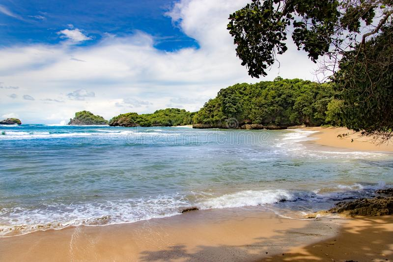 Spiaggia Malang, Indonesia di Bantol immagini stock