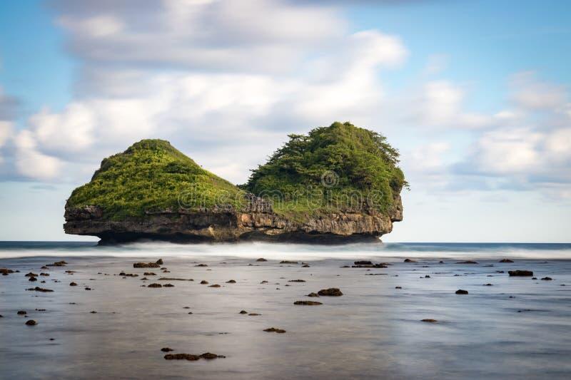 Spiaggia Malang, Indonesia di Goa Cina immagini stock