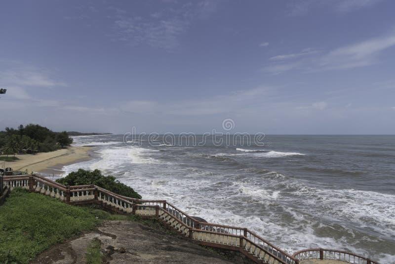 Spiaggia Mangalore del tempio di Someshwara fotografie stock