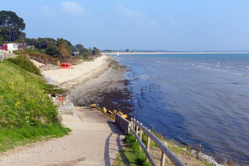 Spiaggia media Dorset Inghilterra Regno Unito di Studland situata fra Swanage e Poole e Bournemouth uno di tre spiagge su questa  immagine stock