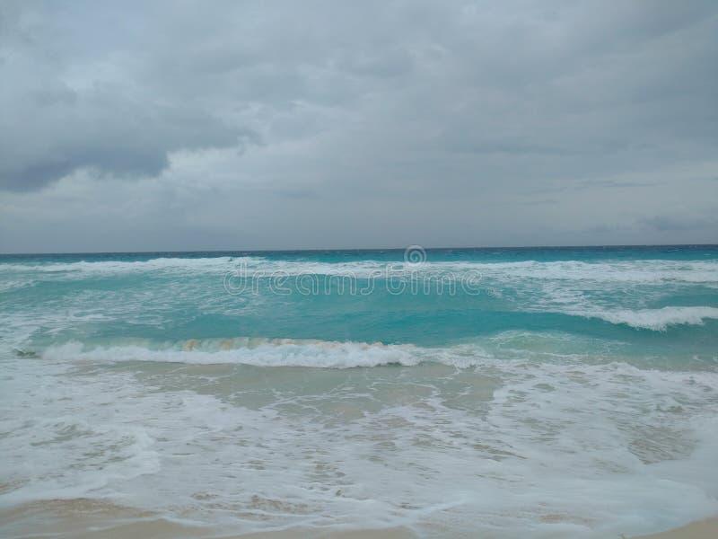 Spiaggia Messico, QUINTANA ROO di Cancun fotografia stock