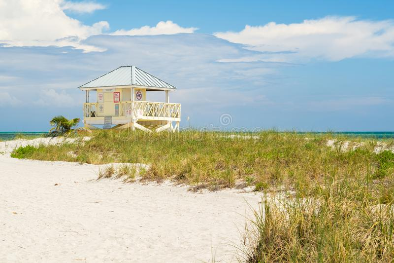 Spiaggia Miami della sosta di Crandon fotografia stock libera da diritti