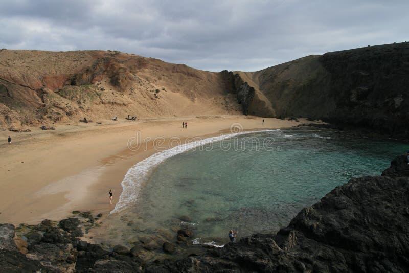 Spiaggia nascosta fotografie stock