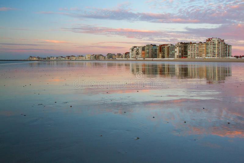 Spiaggia nel Belgio, Knokke fotografia stock