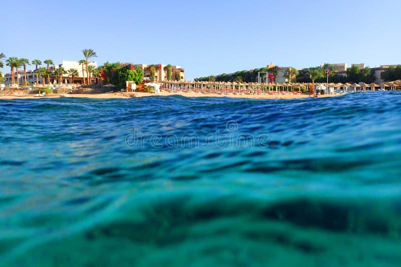 spiaggia nell'egitto fotografie stock