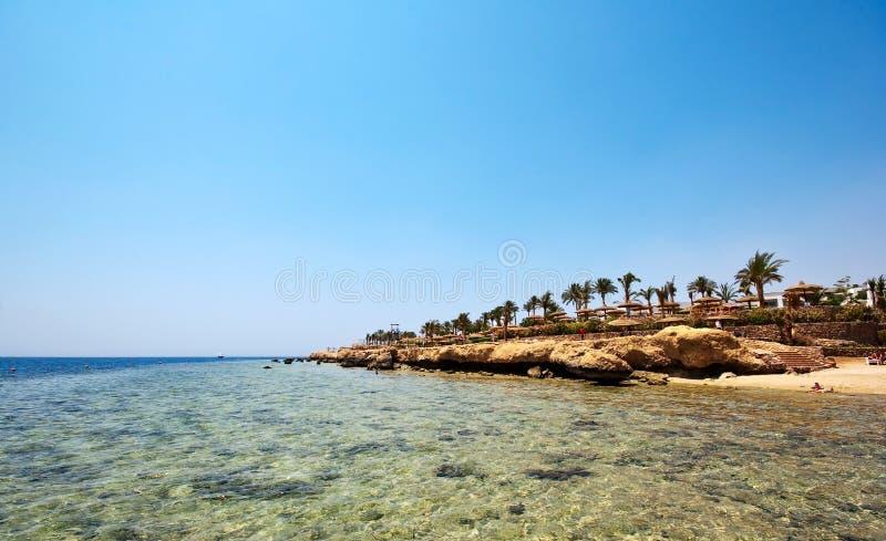 Spiaggia nell'Egitto fotografie stock libere da diritti