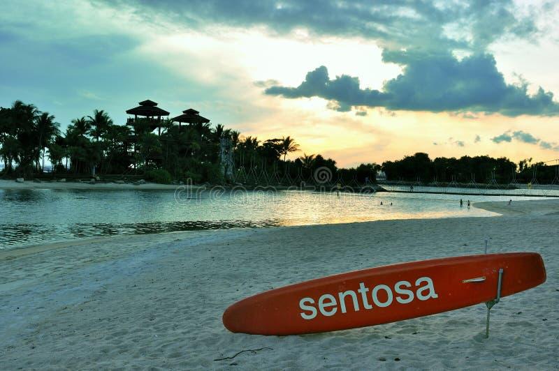 Spiaggia nell'isola Singapore di Sentosa immagine stock
