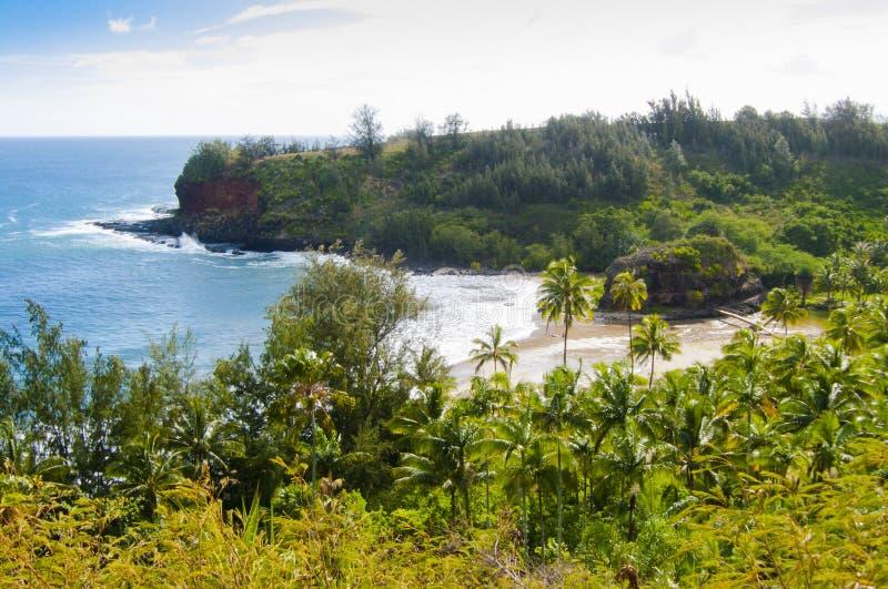 Spiaggia nell'isola Stati Uniti di kawaii dell'Hawai di estate immagini stock