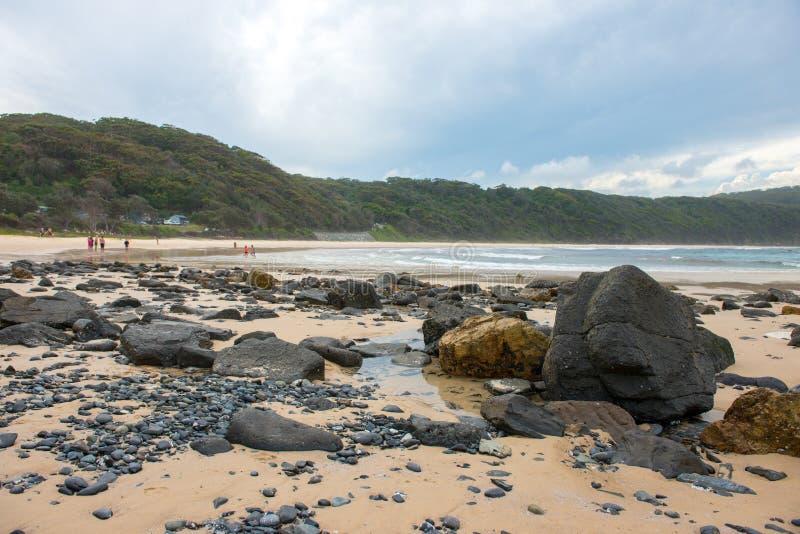 Spiaggia in NSW, Australia fotografia stock libera da diritti
