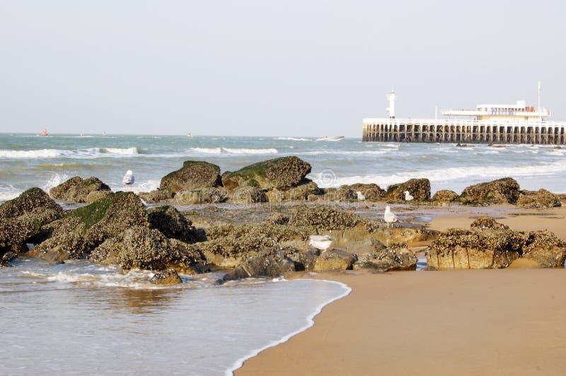 Spiaggia in Oostende, Belgio fotografia stock libera da diritti