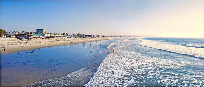 Spiaggia pacifica, San Diego fotografie stock