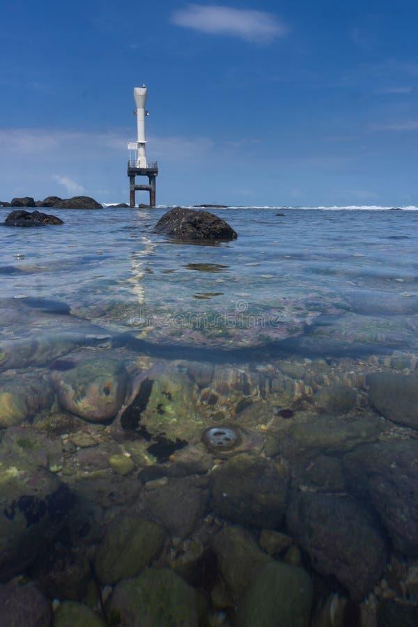 Spiaggia Pacitan Java Indonesia orientale di Pidakan fotografia stock libera da diritti