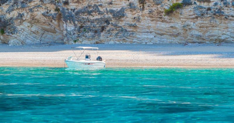 Spiaggia Paradise di Wid su Corfù fotografia stock