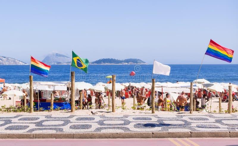 Spiaggia per i gay su Ipanema in Rio de Janeiro fotografia stock
