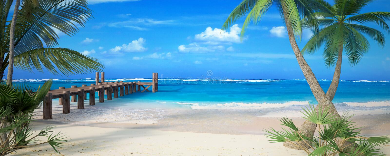 Spiaggia perfetta royalty illustrazione gratis