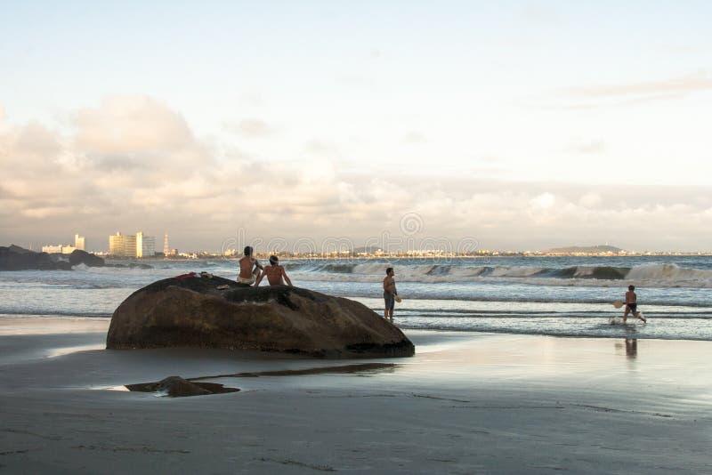 Spiaggia in PeruÃbe immagine stock libera da diritti