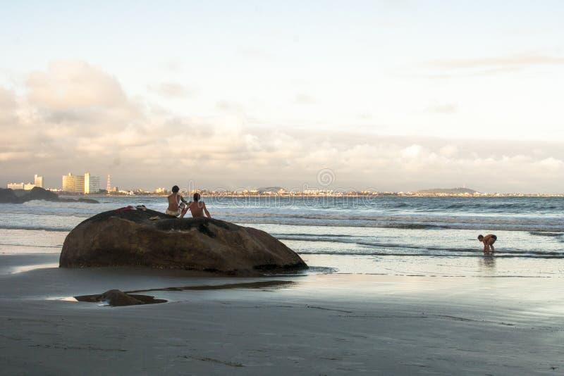 Spiaggia in PeruÃbe fotografia stock