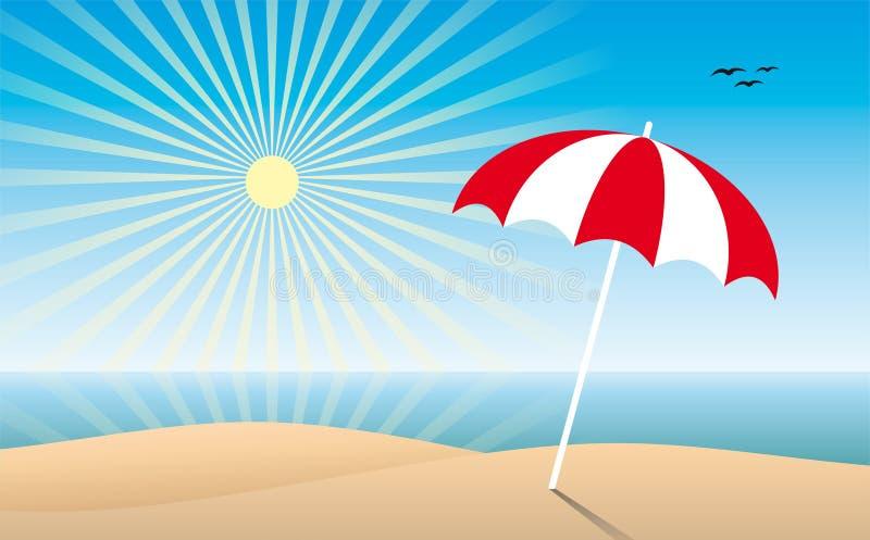 Spiaggia piena di sole royalty illustrazione gratis