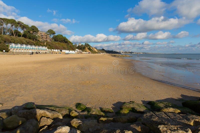 Spiaggia Poole Dorset Inghilterra di Branksome BRITANNICA vicino a Bournemouth fotografie stock
