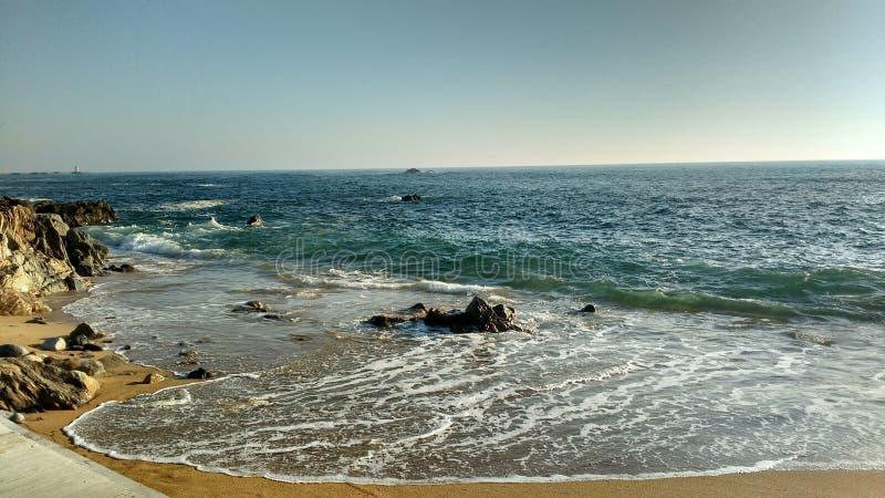 Spiaggia Portogallo di Matosinhos fotografie stock libere da diritti