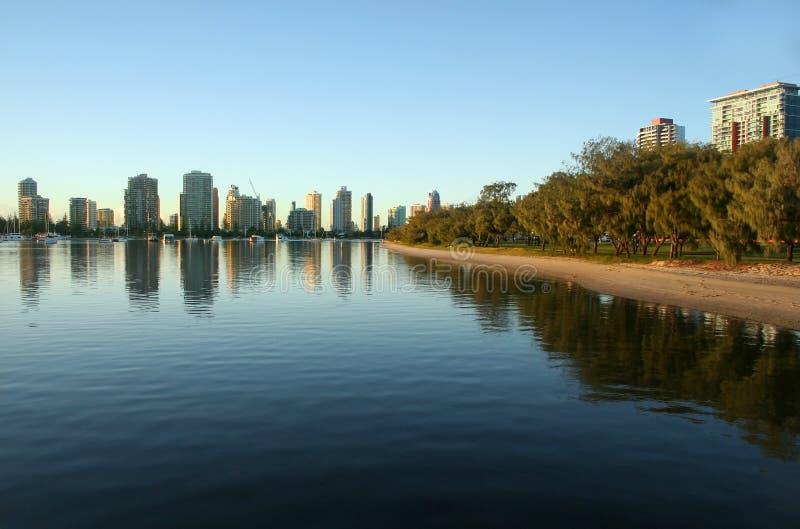 Spiaggia principale Gold Coast Australia fotografie stock
