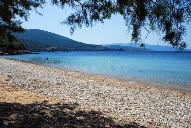 Spiaggia privata fotografia stock libera da diritti