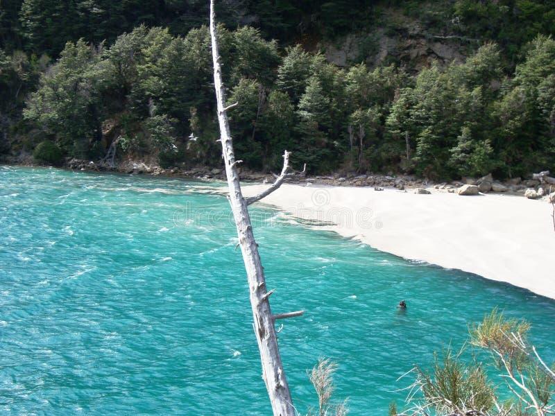 Spiaggia privata immagine stock