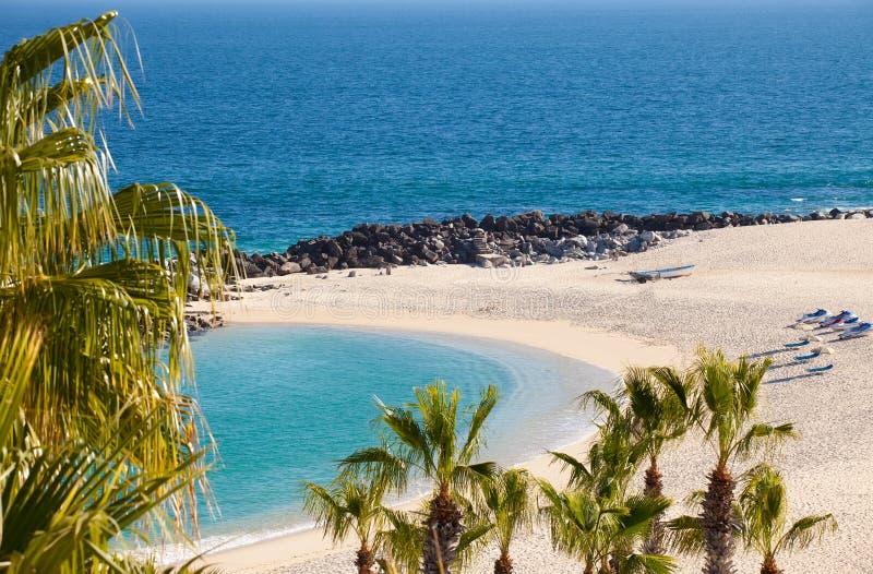 Spiaggia privata in Cabo San Lucas immagini stock libere da diritti