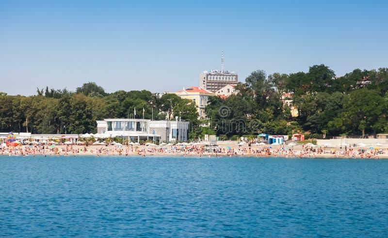 Spiaggia pubblica centrale di Burgas fotografia stock libera da diritti