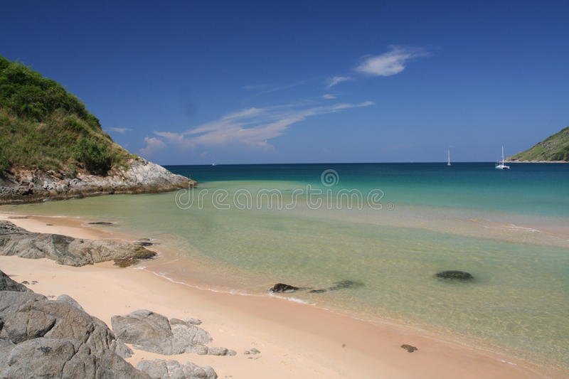 Spiaggia rocciosa del NaI Harn dell'estremità immagine stock libera da diritti