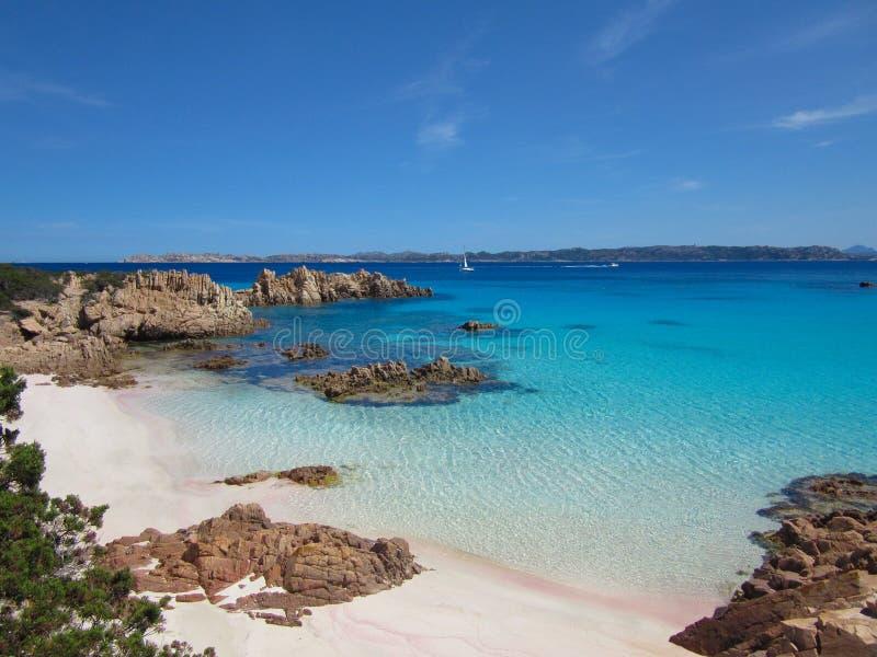 Spiaggia Rosa (playa rosada) imágenes de archivo libres de regalías
