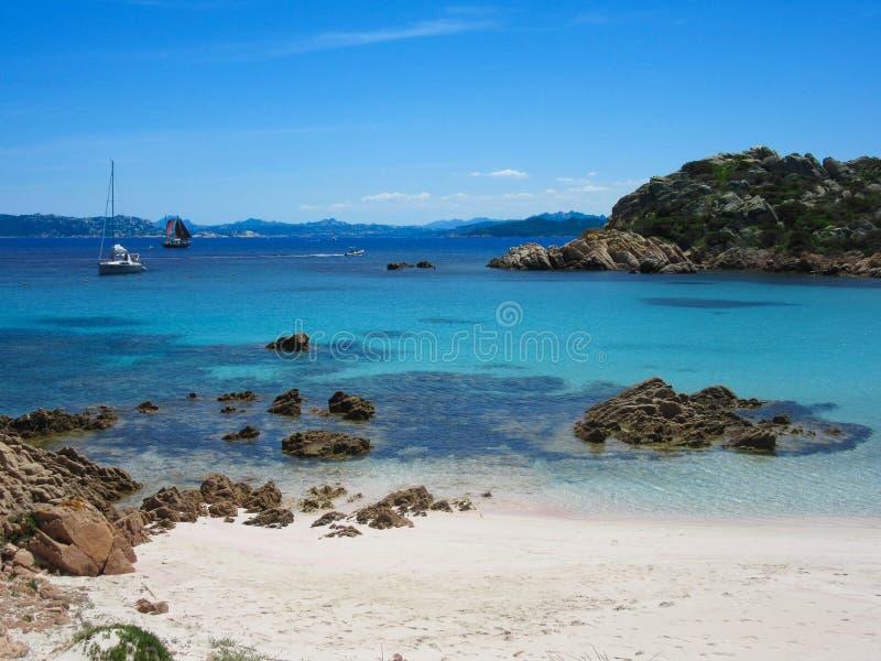 Spiaggia Rosa in Sardegna immagini stock libere da diritti