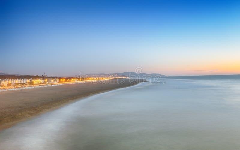 Spiaggia San Francisco dell'oceano fotografia stock