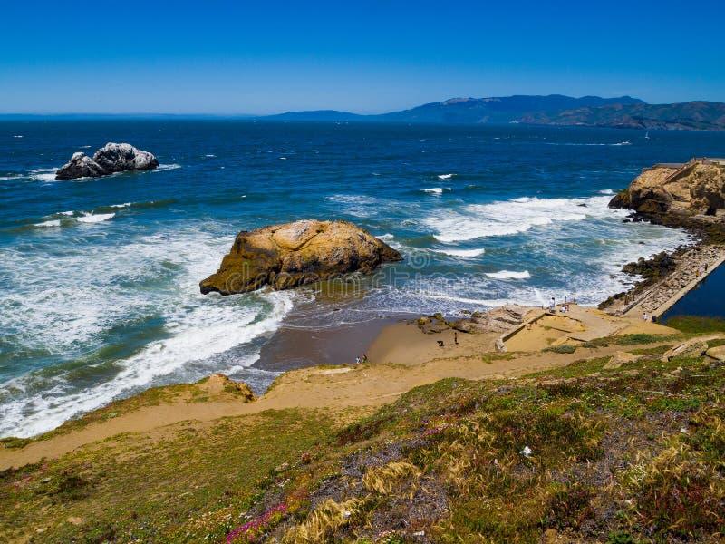 Spiaggia San Francisco dell'oceano immagini stock libere da diritti