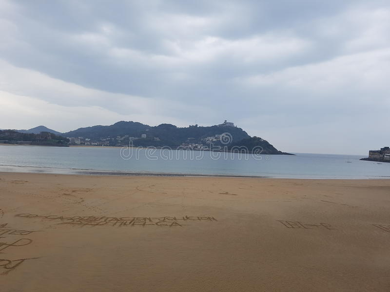 Spiaggia, San Sebastian, fotografia stock