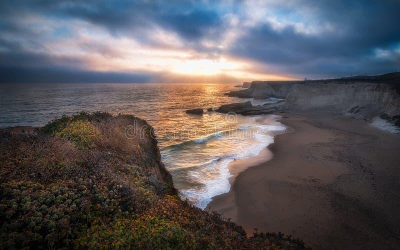 Spiaggia Santa Cruz della pantera immagini stock libere da diritti