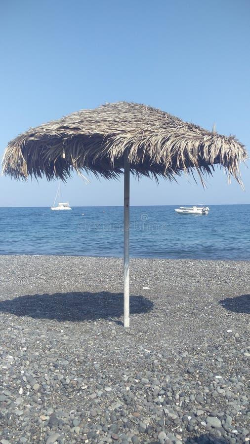 Spiaggia a Santorini immagini stock libere da diritti