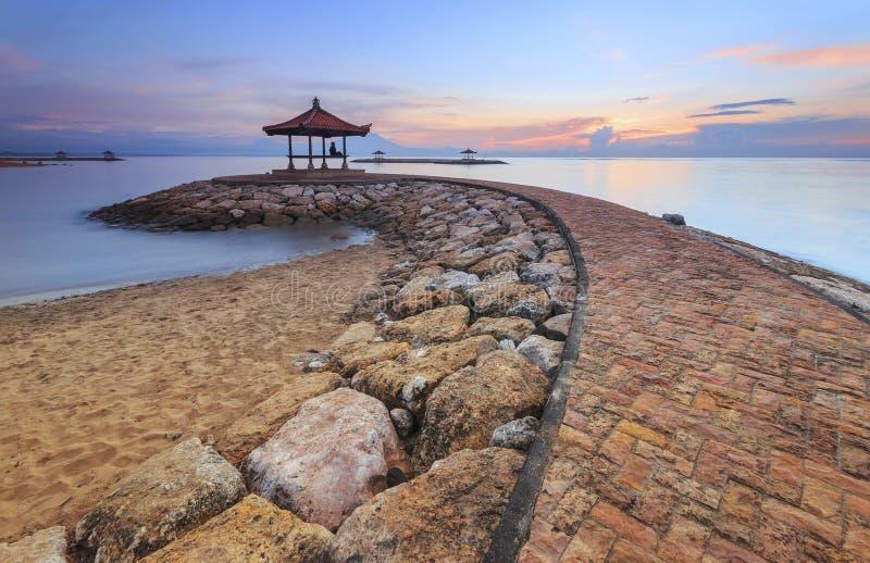 Spiaggia Sanur, Bali di Karang fotografia stock libera da diritti