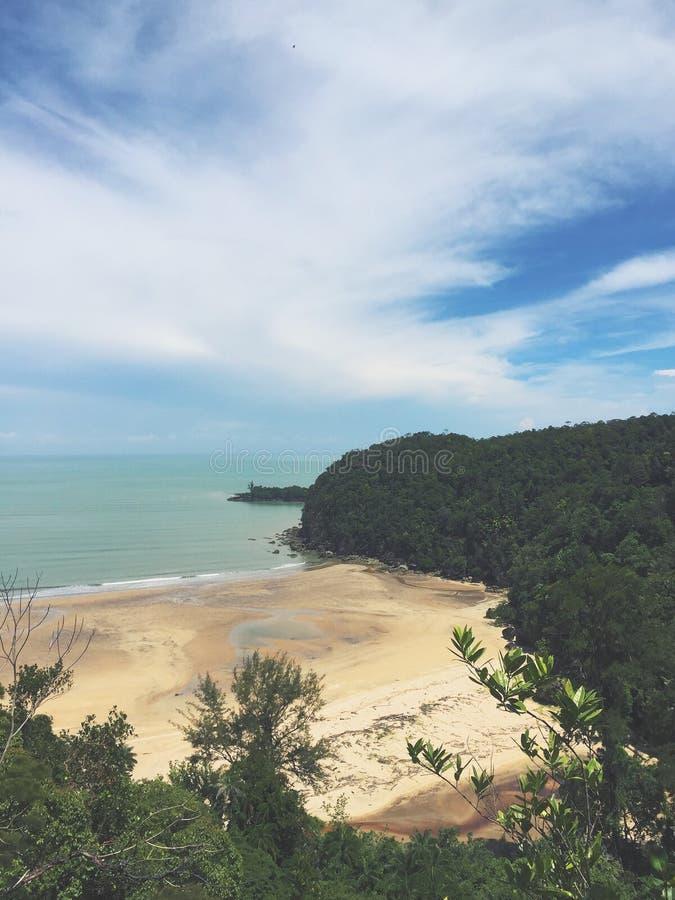 Spiaggia Sarawak Borneo immagini stock libere da diritti