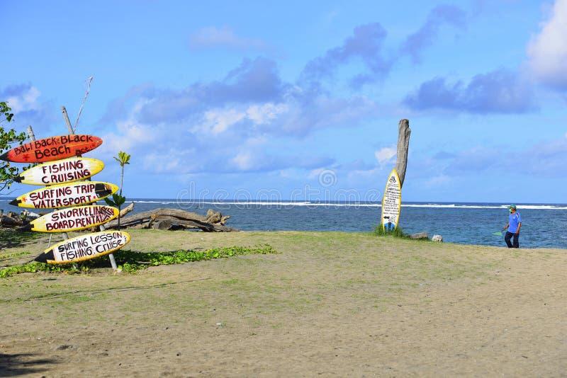 Spiaggia in Seminyak, Bali fotografia stock libera da diritti