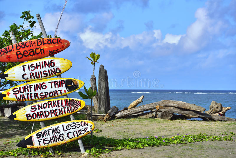 Spiaggia in Seminyak, Bali immagini stock libere da diritti