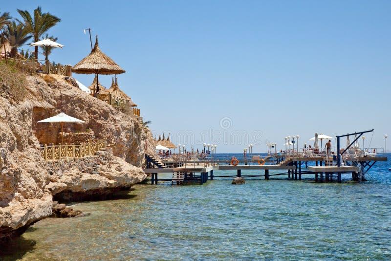Spiaggia Sharm El-Sheikh fotografia stock