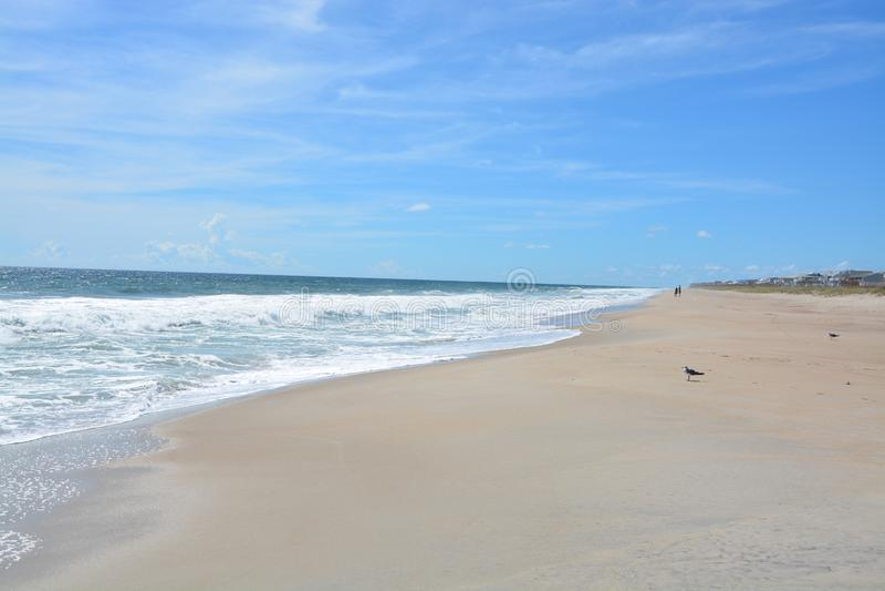 Spiaggia sola nel Carolinas fotografia stock