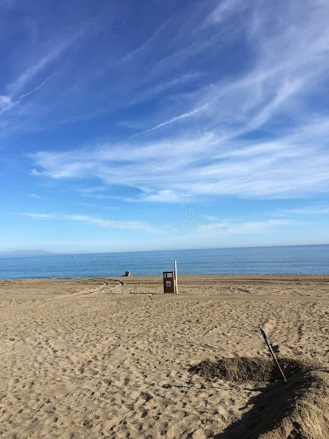 Spiaggia spagnola fotografia stock