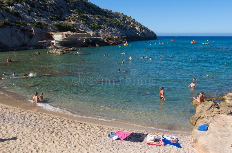 Spiaggia spagnola in Mallorca fotografia stock libera da diritti